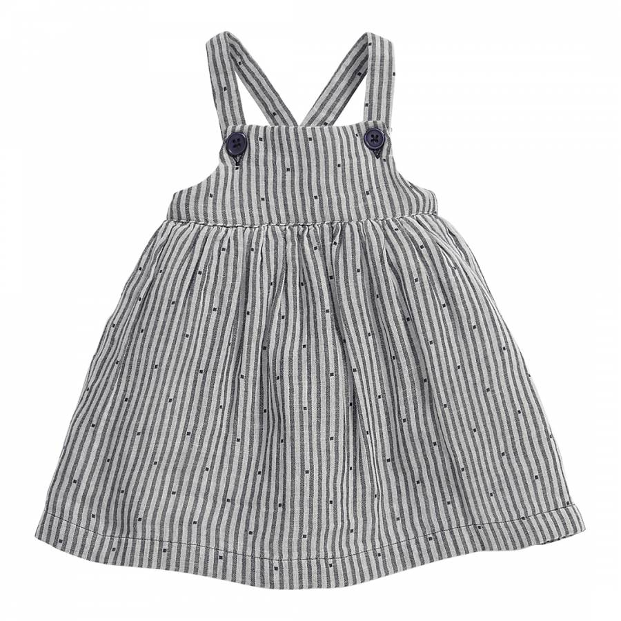 8f0ce7545 ... Baby Girl's Grey Cotton Pinafore Dress. prev. next. Zoom
