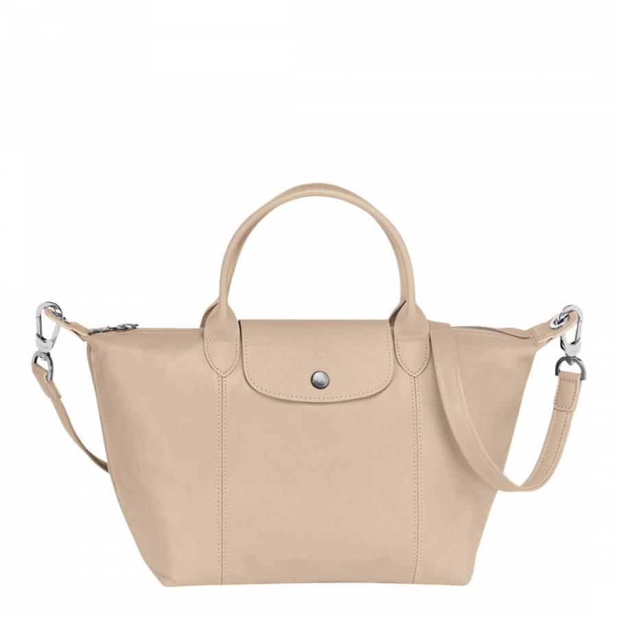 Beige Leather Le Pliage Cuir Small Tote Bag - BrandAlley b591ecc52d8c4