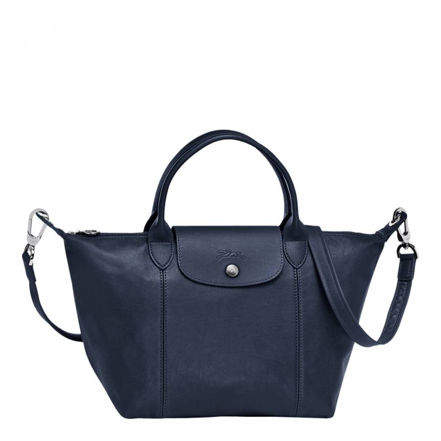 Zoom · Longchamp Navy Leather Le Pliage Cuir Small Tote Bag 6bc1a31e50a20