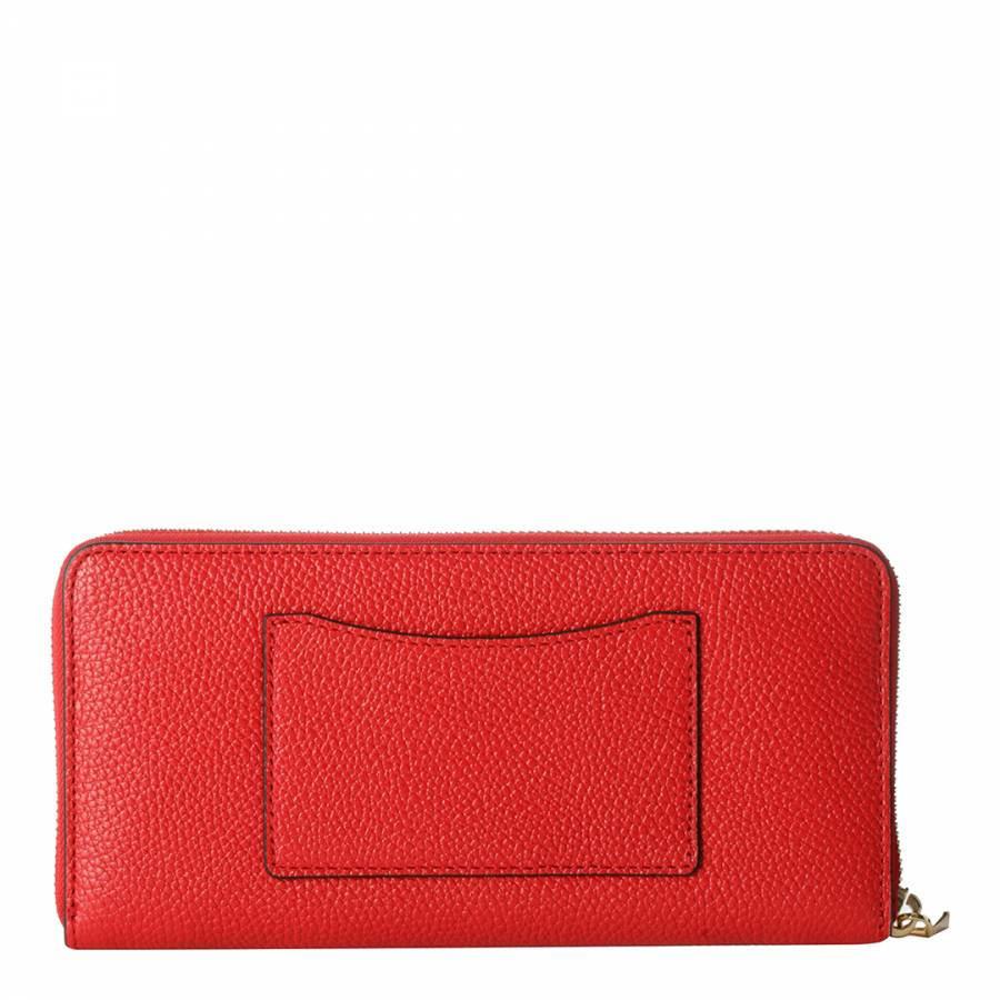 e23631544c26 Red Mercer Leather Continental Zip Around Wallet - BrandAlley