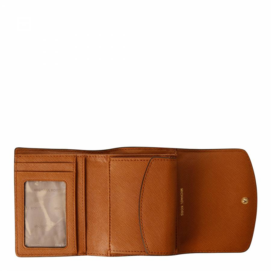 9a8c7cb16766 Tan Leather Small Trifold Wallet - BrandAlley