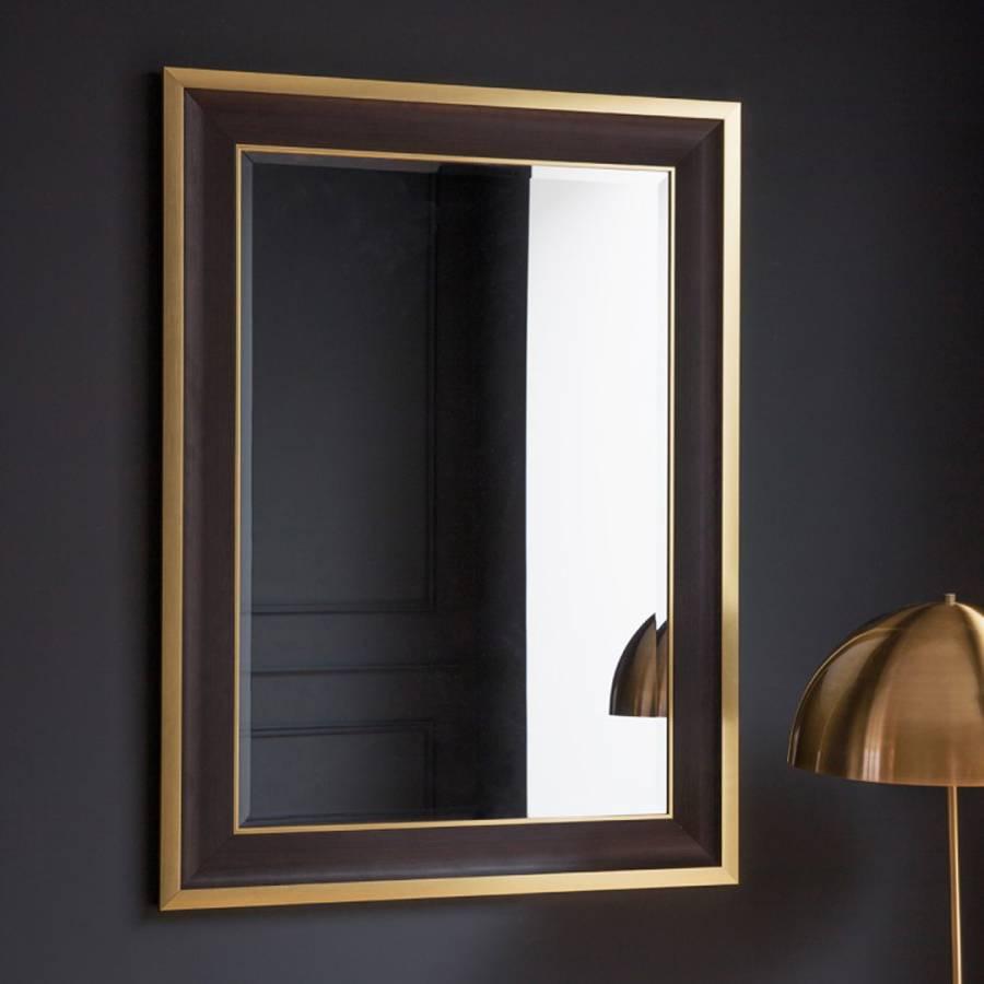 Black Gold Edmonton Wall Mirror 111x81cm Brandalley