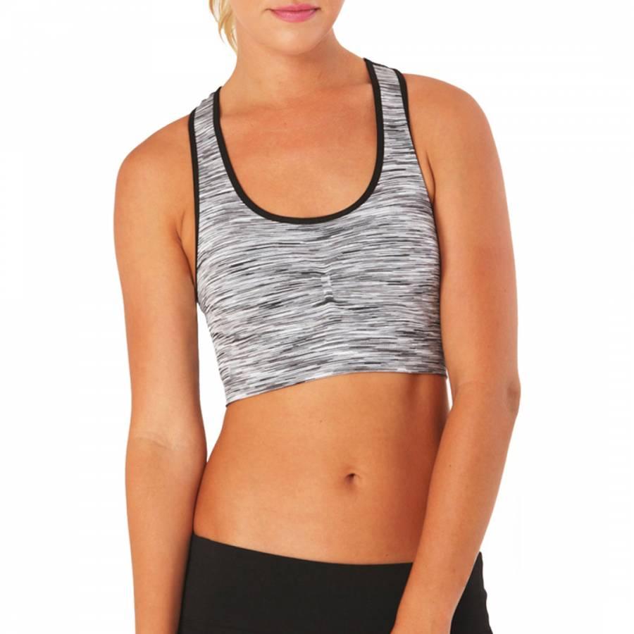 4e2ceb16e9b17 Electric Yoga Black Grey Striped Micro Bra
