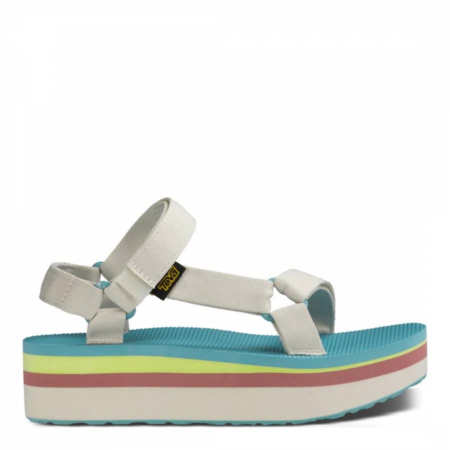 51686136b59 Womens Pastel Universal Retro Flatform Sandal - BrandAlley