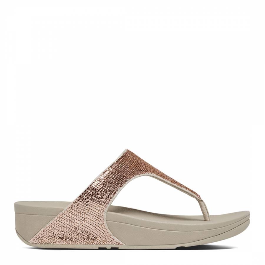 4e9cbeaf949cda Rose Gold Electra Micro Crystal Toe Post Sandals - BrandAlley