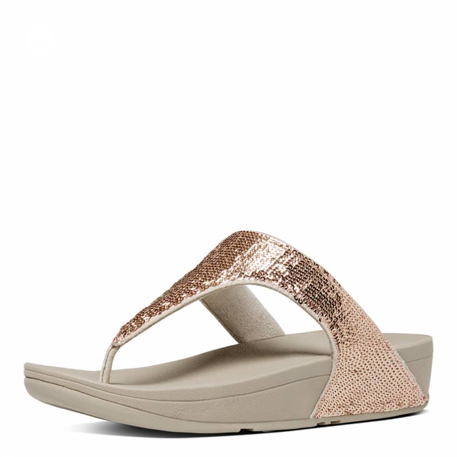 a0a3ccdf53588 Rose Gold Electra Micro Crystal Toe Post Sandals - BrandAlley