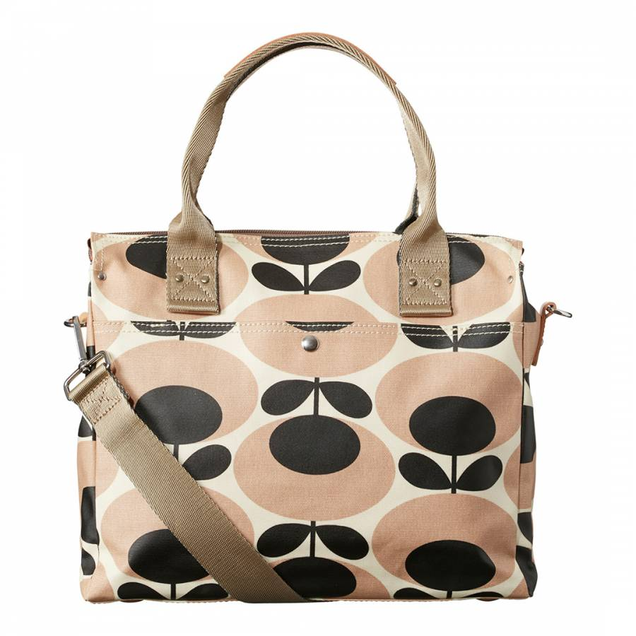 9c2a45ae387 Orla Kiely Nude Black Giant Oval Stem Zip Messenger Bag. prev. next. Zoom