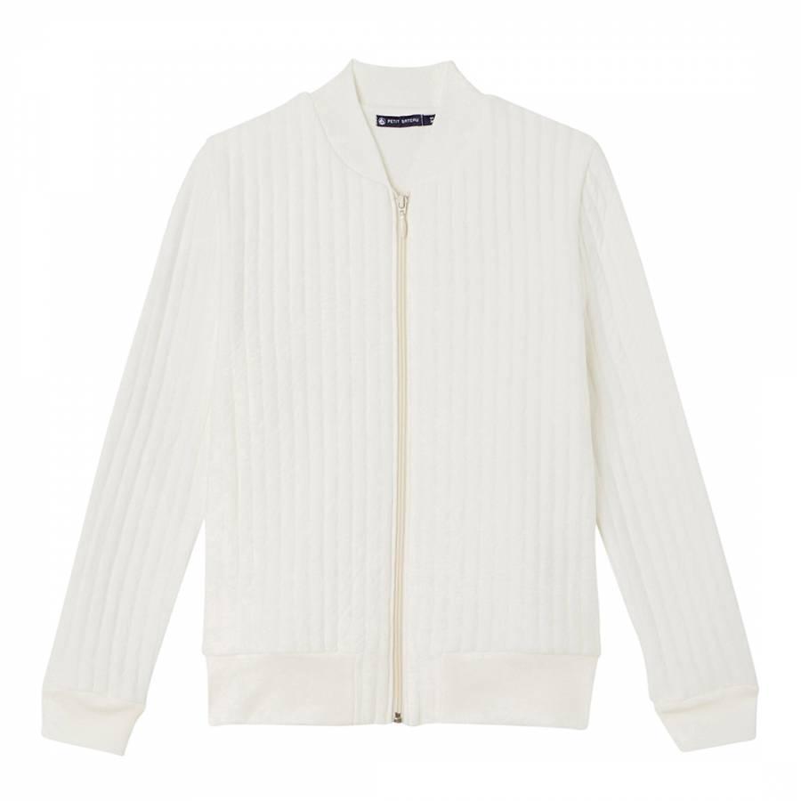 White Baseball Style Cotton Blend Jacket - BrandAlley d012a274986