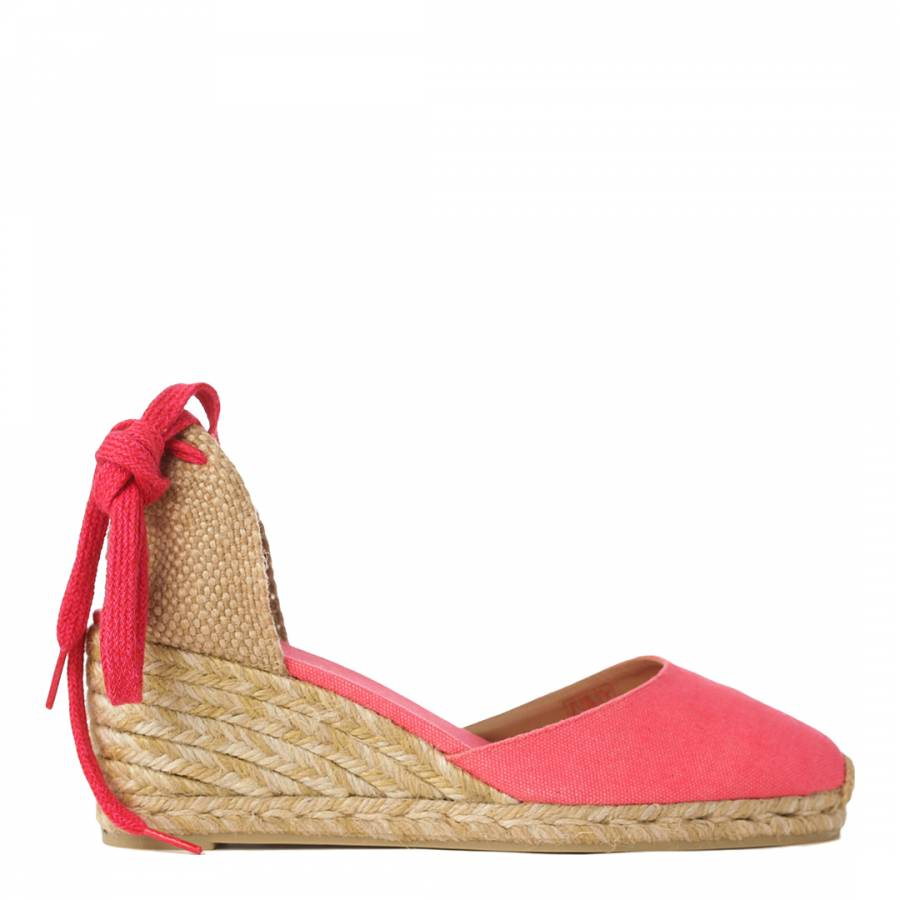 9fc8136b3555 Coral Canvas Carina Wedge Espadrilles - BrandAlley