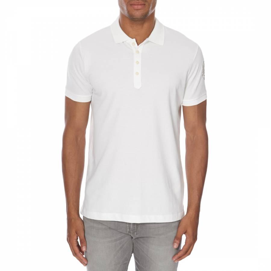 White cotton polo shirt brandalley for Cotton on polo shirt