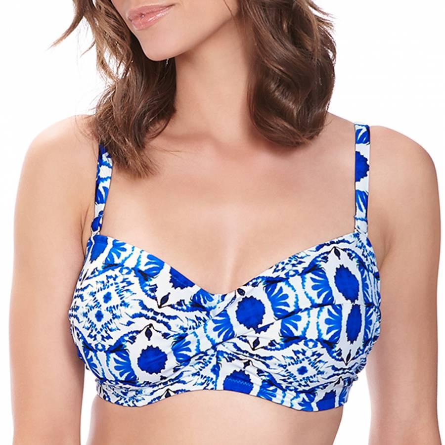 f3abcc308a Blue Aveiro Underwired Twist Bandeau Multiway Strap Bikini Top ...