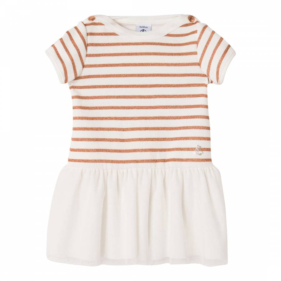 960b7b45d9c0 Baby Girl s White Orange Striped Dress - BrandAlley