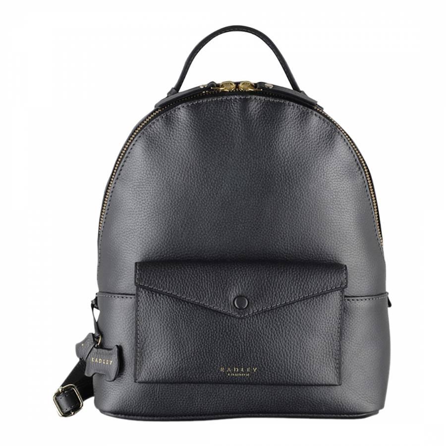 Silver Medium Leather Star Gazer Medium Ziptop Backpack - BrandAlley b8d1288615