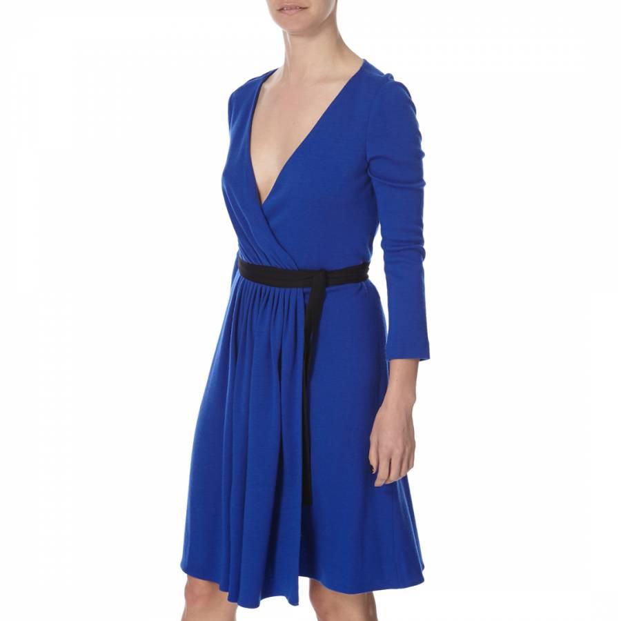 0eed39a1d208 Diane von Furstenberg Cobalt Wool Seduction Wrap Dress