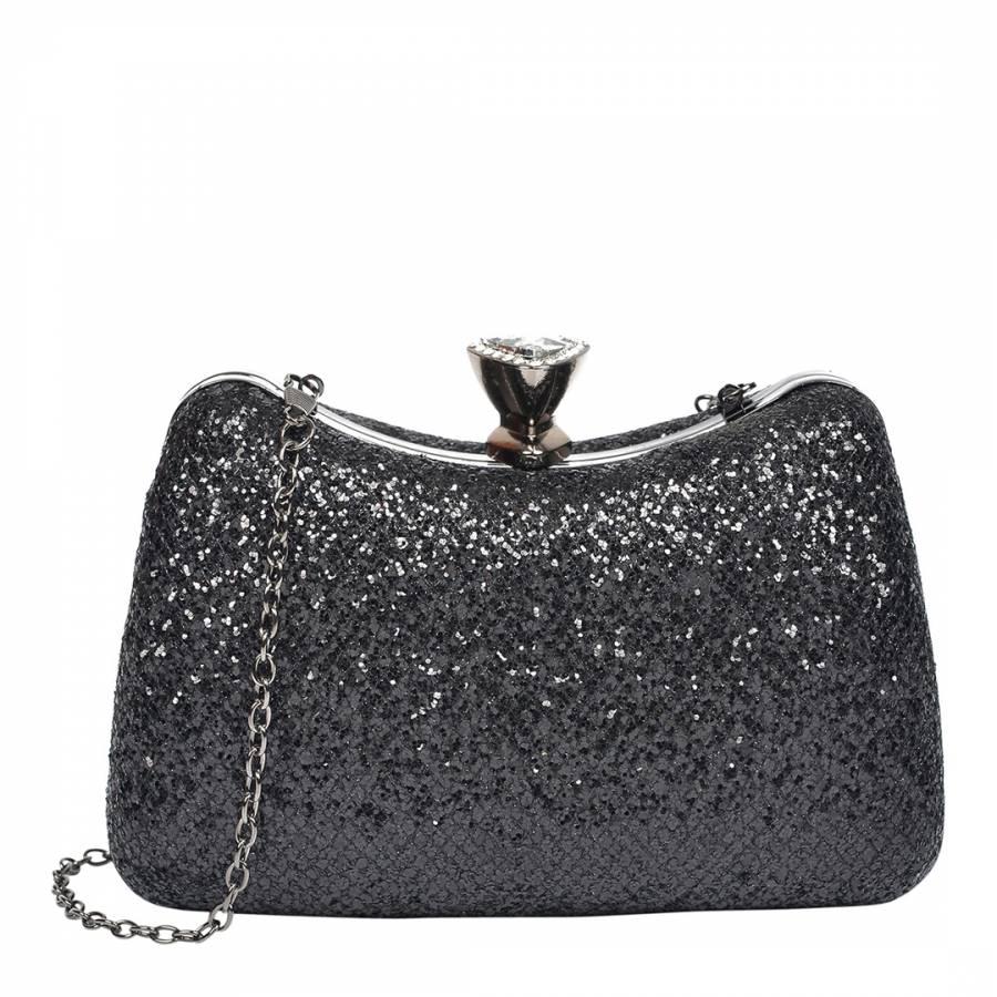 Mangotti Bags Black Glitter Clutch Bag c4c3080dad