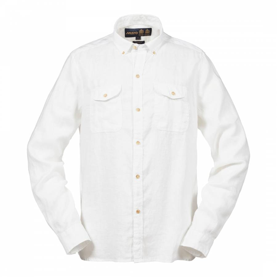 95812fb3 Men's Alicante Ls Linen Shirt - BrandAlley