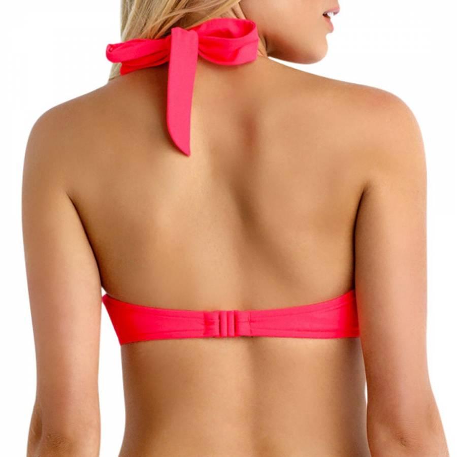 268d730bbd2 Coral Red Halter Bustier Bikini Top - BrandAlley