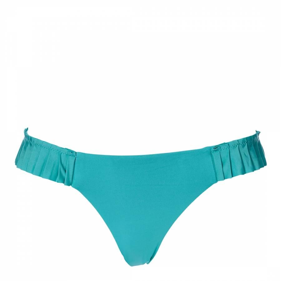 6ee1da9930b Light Blue Pleated Brazilian Bikini Briefs - BrandAlley