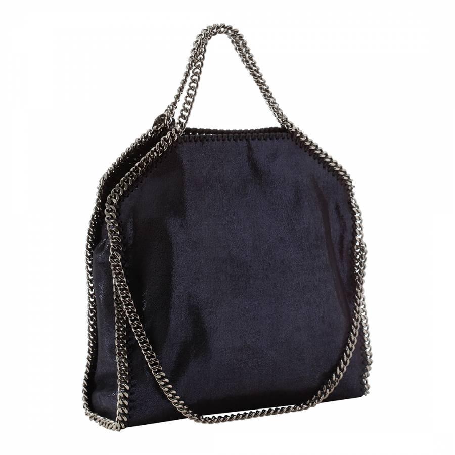 0992c759321 Stella McCartney Ink Shiny Three Chain Falabella Tote Bag