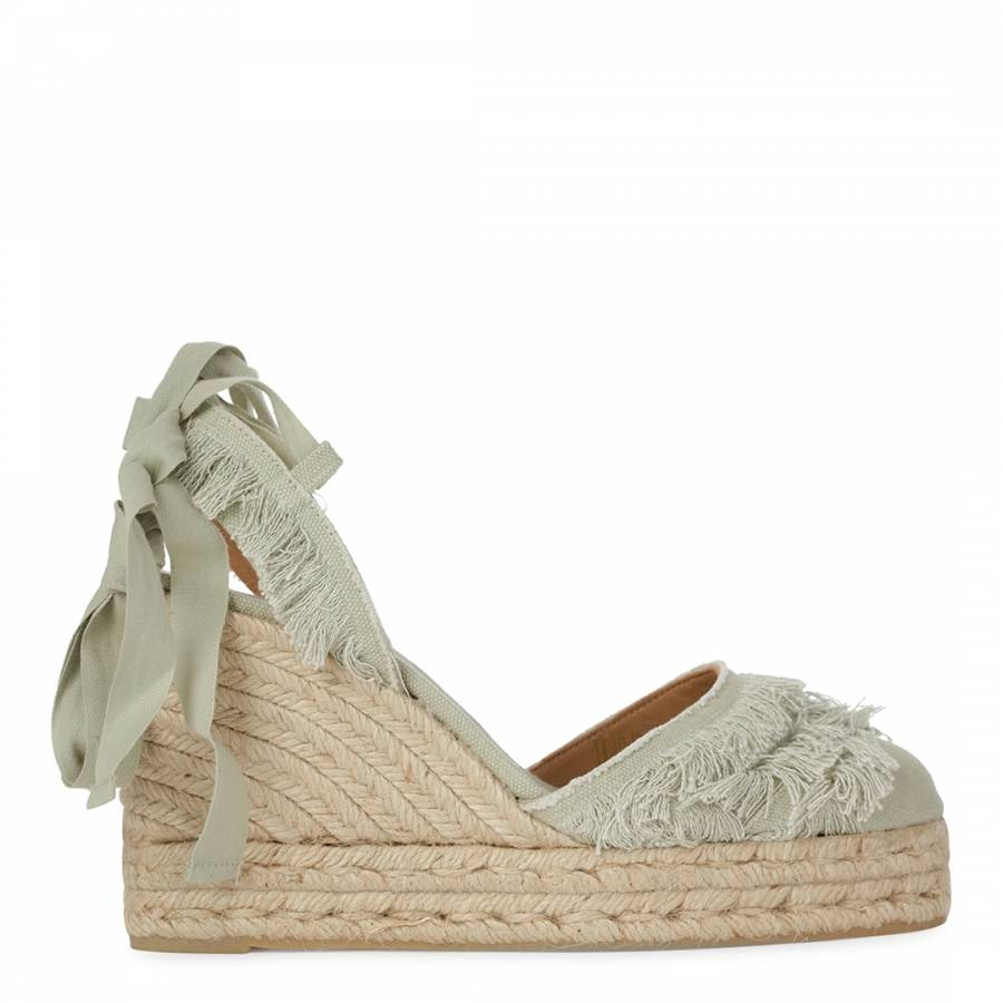 43c09e648cff Turqouise Canvas Fringed Cala Wedge Espadrilles - BrandAlley