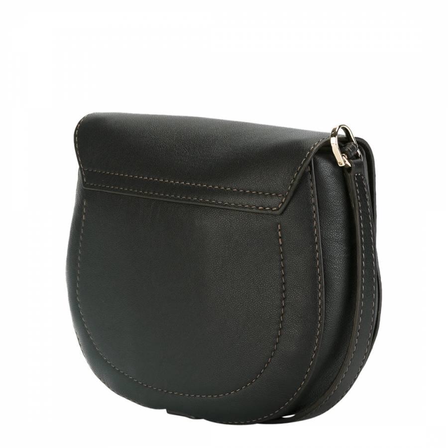 5ac9bf46854c21 Black Floral Cut Club Saddle Bag - BrandAlley