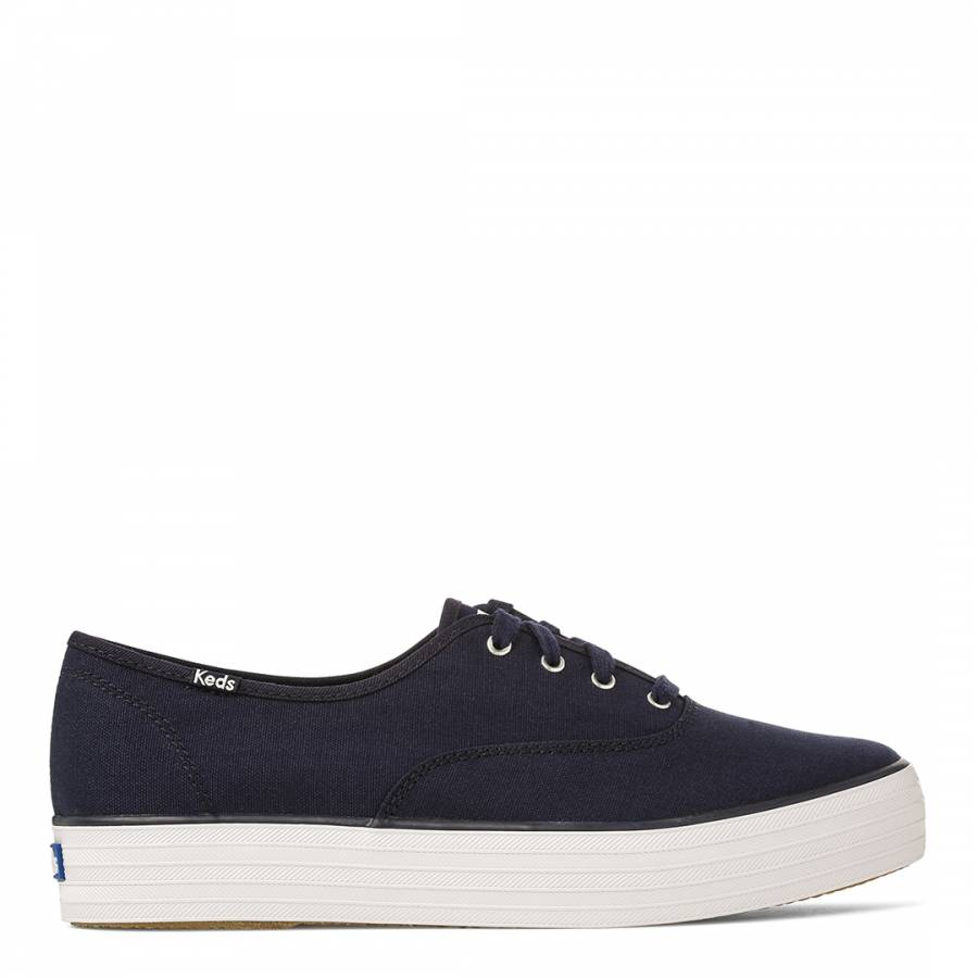 d63578ad30 Women s Navy Canvas Triple Stack - BrandAlley