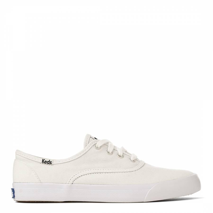 e63952c9244 Women s White Canvas Triumph Seasonal Solids Sneakers - BrandAlley