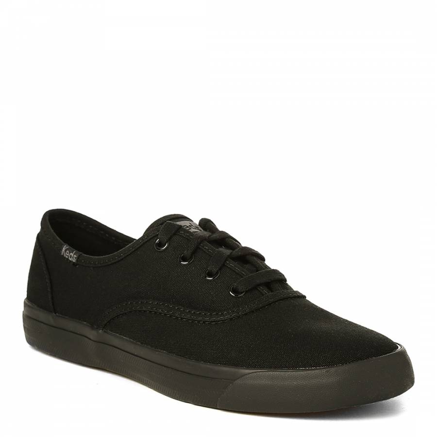 bcb64bf5973 Women s Black Canvas Triumph Seasonal Solids Sneakers - BrandAlley