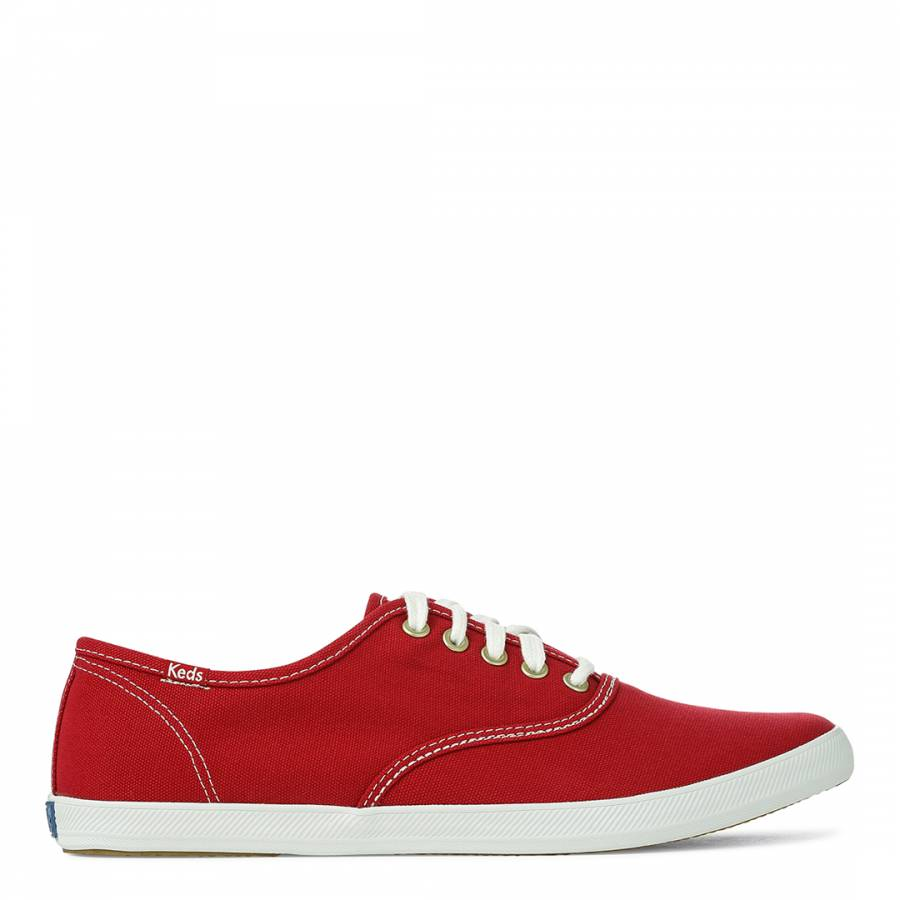 69542f56484 Men s Red Canvas Champion CVO Low Top Sneakers - BrandAlley