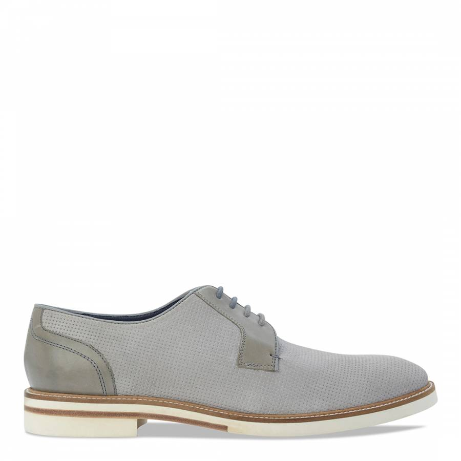 9cecf68201085e Grey Perforated Suede Siablo Shoes - BrandAlley