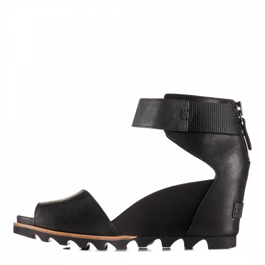 Joanie Sandals Black Sea Leather Salt Women's 9DHIE2