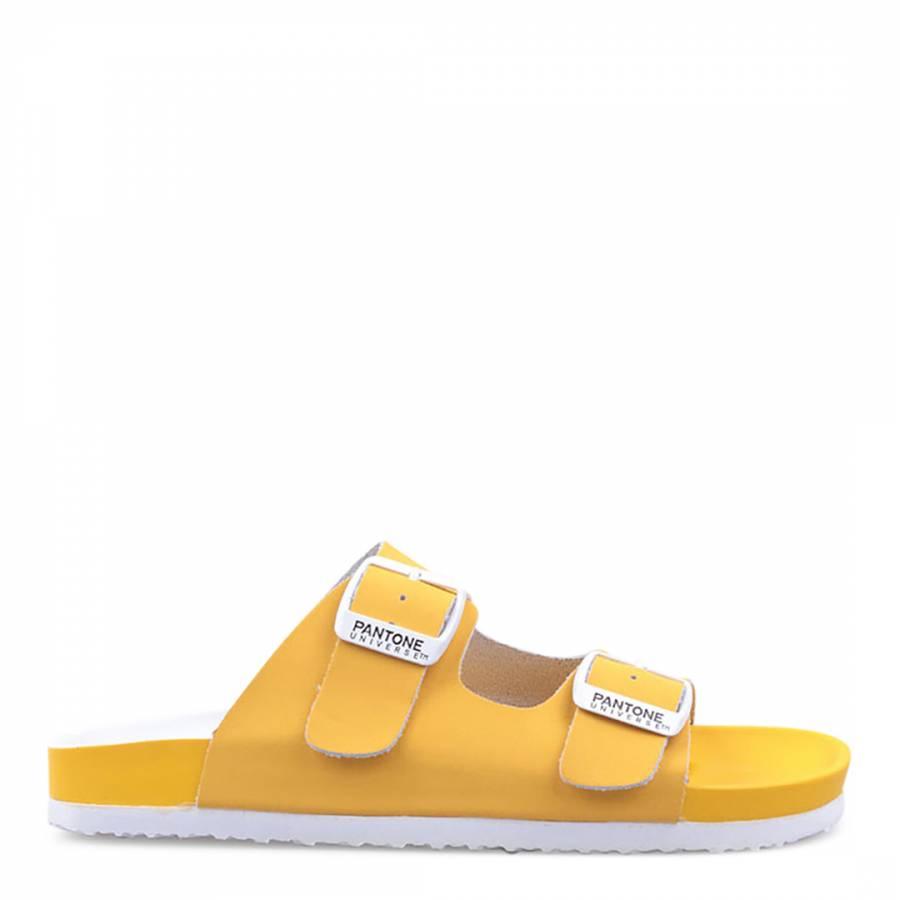 05b4c3833448bc Womens Yellow Formentera Double Strap Sandals - BrandAlley