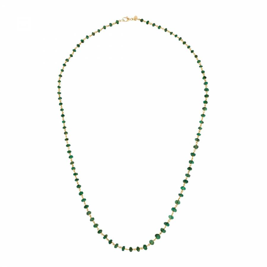 necklace birthstone gold olizz emerald