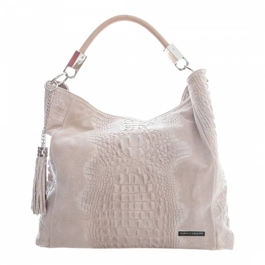 df512a9e2 Sofia Cardoni Pale Pink Texture Shopper Leather Bag. prev. next. Zoom