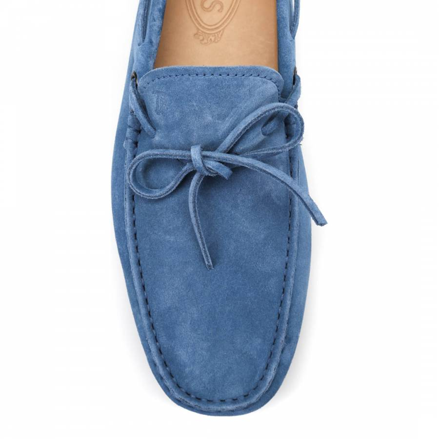 Men\'s Light Blue Suede Gommino Driving Shoes - BrandAlley