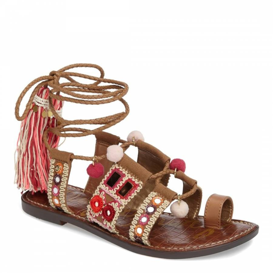 a3b02740d68 Golden Caramel Gretchen flat sandal - BrandAlley