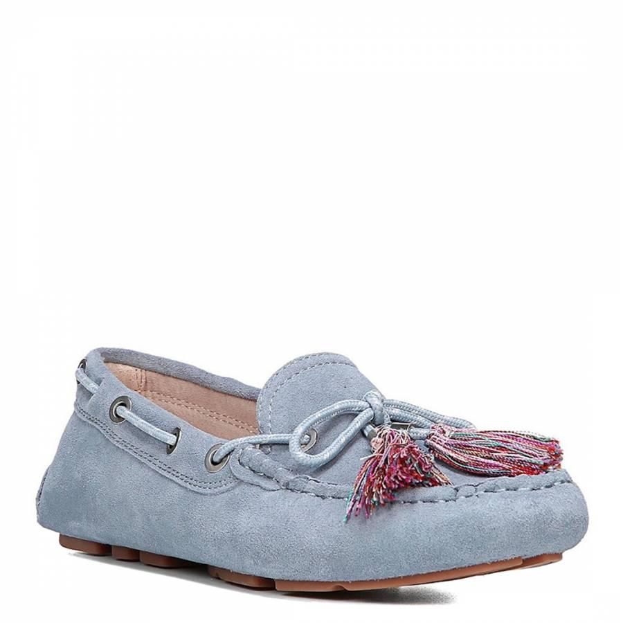360a42655 Dusty Blue Suede Blend Fantine Boat Shoe - BrandAlley