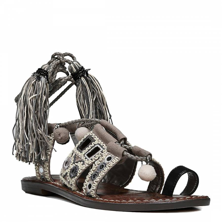 5b497409b1b9 Black Putty Gretchen Leather Blend Sandals - BrandAlley