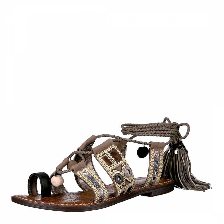 65ccd4a894b Black Putty Gretchen Leather Blend Sandals - BrandAlley