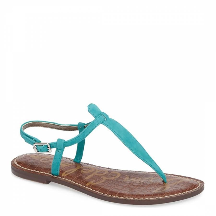 60ed76fd75c4 Gulf Blue Leather Blend Gigi Thong Sandal - BrandAlley