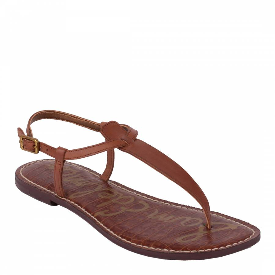 2300f7aa1 Brown Leather Gigi Flat Sandals - BrandAlley