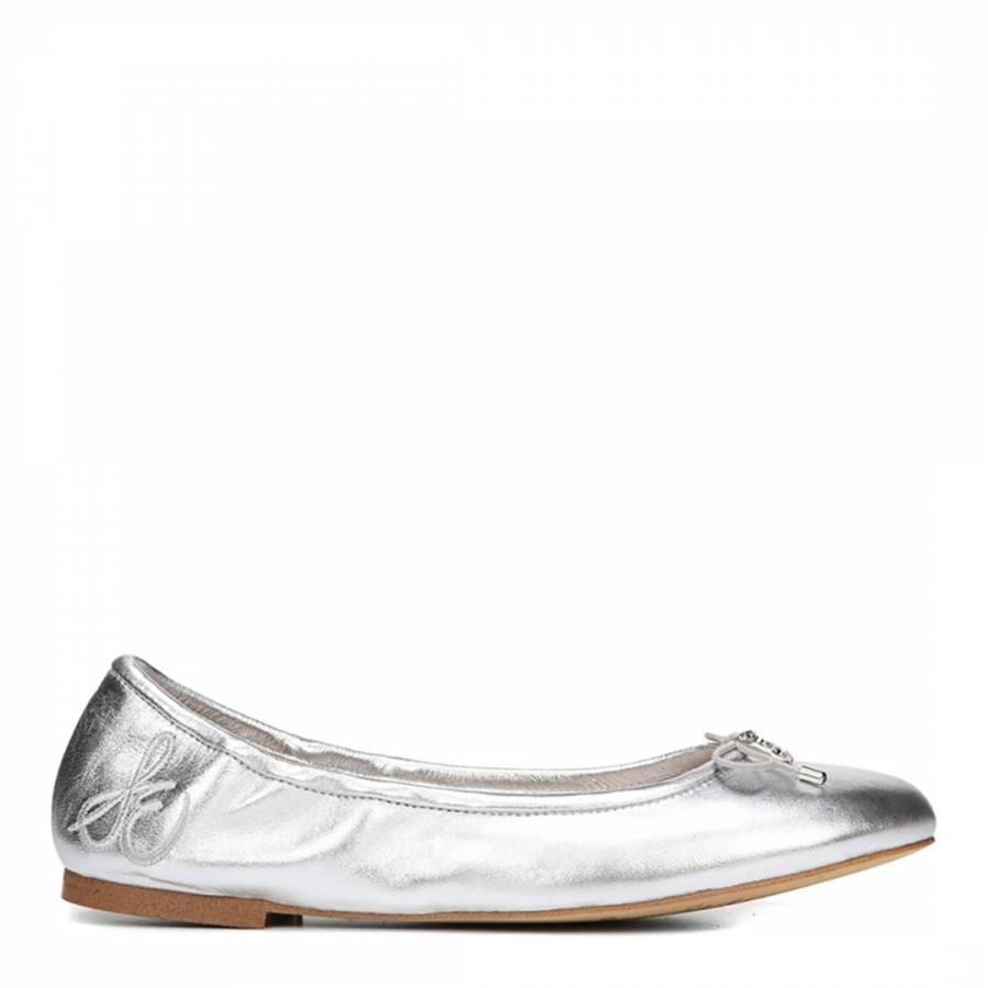 c1cc001764eb Sam Edelman Soft Silver Leather Felicia Ballet Flats. prev. next. Zoom