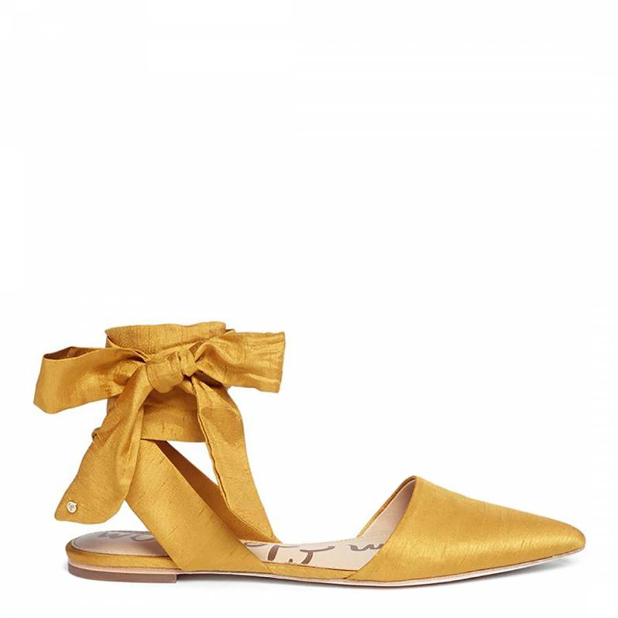 f917aee2e2915 Sunset Yellow Silk Blend Brandie Pointed Toe Shoes - BrandAlley