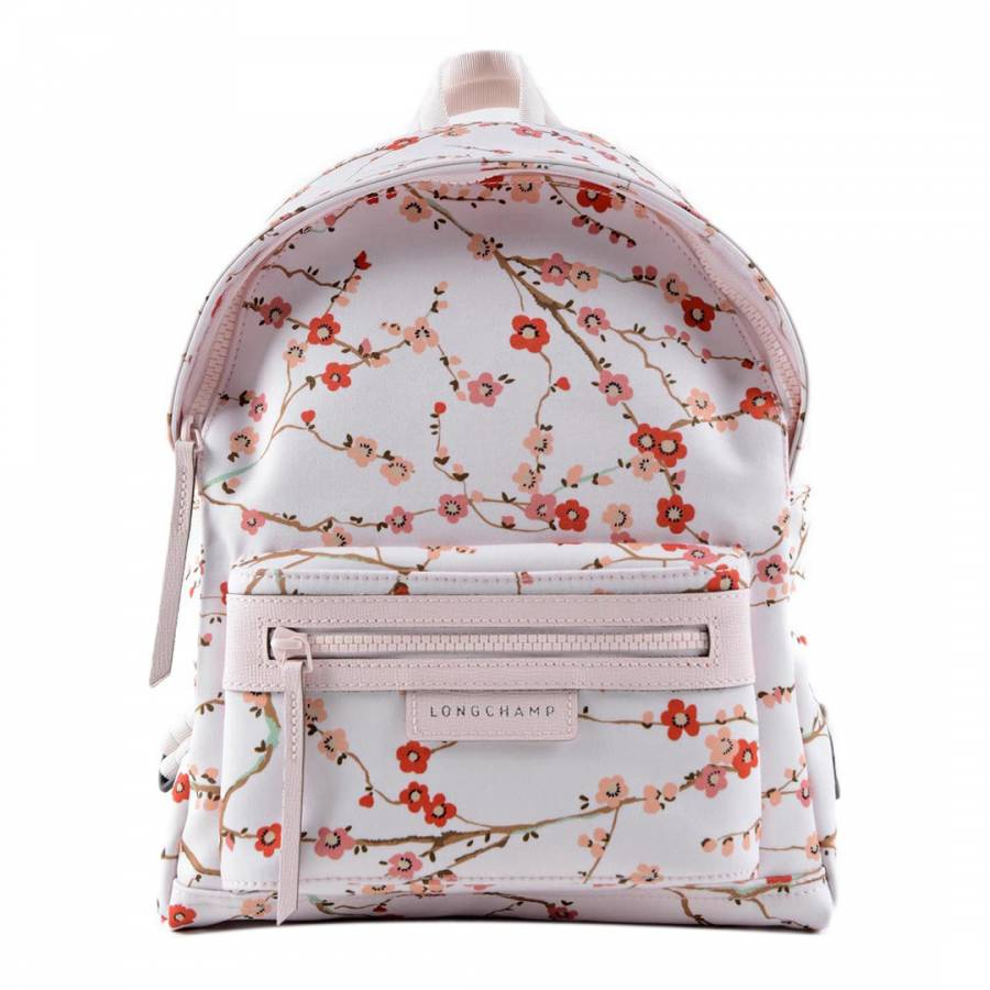 Pink Le Pliage Neo Fantasie Sakura Backpack - BrandAlley b18181e9cf7c3