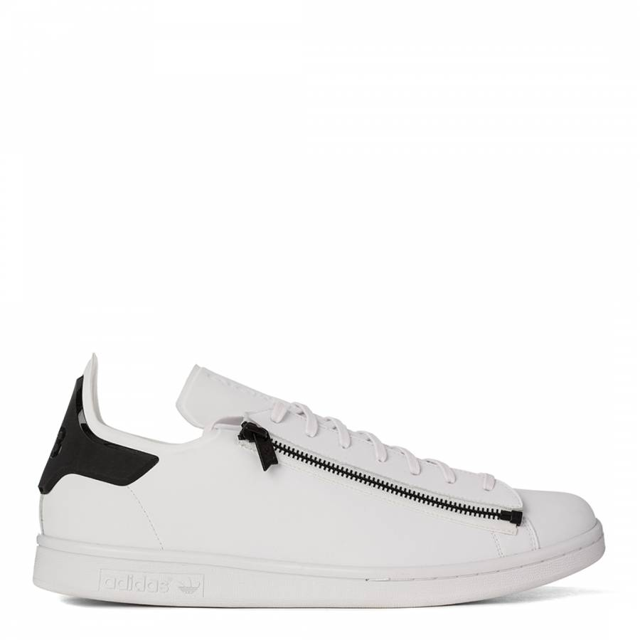 new style 2b375 b08de adidas Y-3 Men's White Stan Zip Slip On Y3 Trainers
