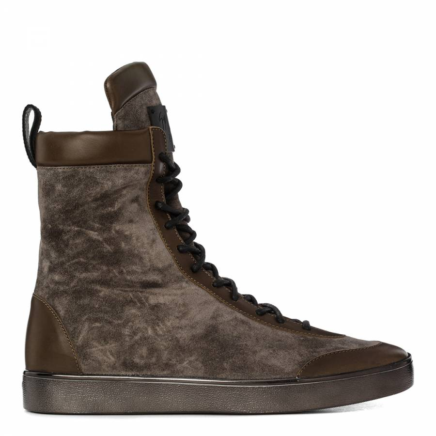 66a4d677 Men's Season 5 Oil, Military & Graphite Suede Military Boot - BrandAlley