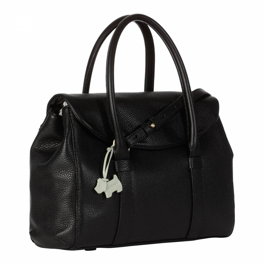 85a947edfe Black Leather Waterloo Medium Flap Over Multiway Bag - BrandAlley