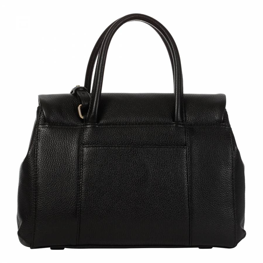 ad5a423a8d Radley Black Leather Waterloo Medium Flap Over Multiway Bag. prev. next.  Zoom