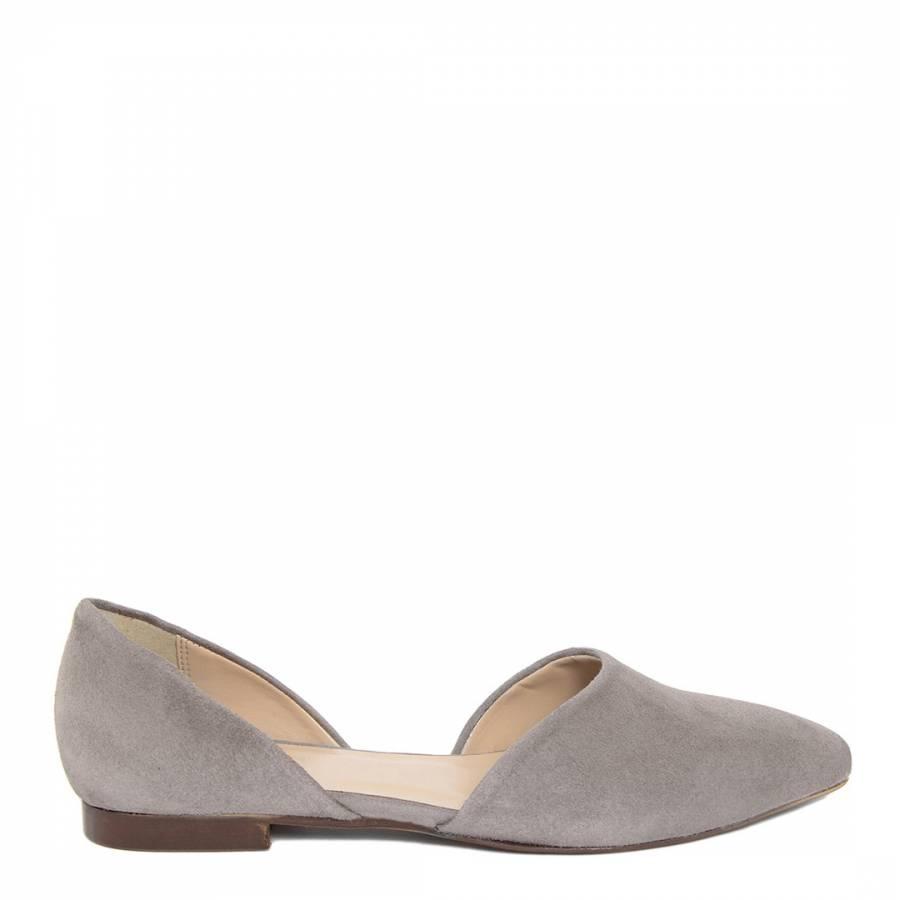 Zenith Grey Suede Ballet Flats - BrandAlley