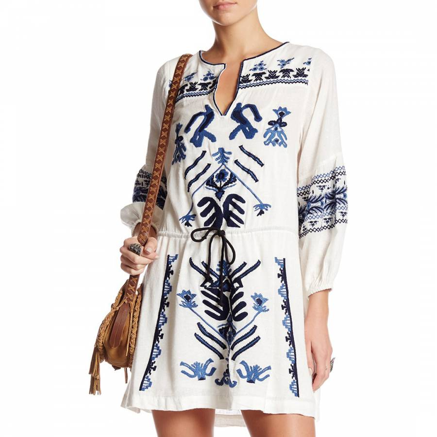 97a2bef18ee9 Ivory Anouk Embroidered Mini Dress - BrandAlley